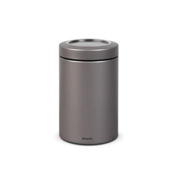 Boîte couvercle à fenêtre Brabantia 1,4 L platinum