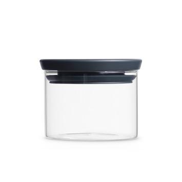 Brabantia glazen voorraadbus dark grey 0,3 L
