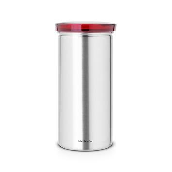 Brabantia voorraadbus voor koffiepads met rood deksel