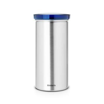 Brabantia voorraadbus voor koffiepads met blauw deksel