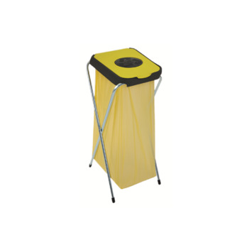 Support pour sac poubelle 80 L repliable 42x36x82 cm