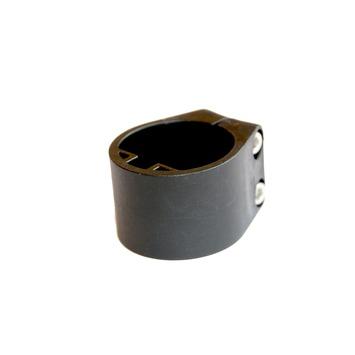Plastiek midden/eindklem 48mm profielpaal RAL 9005 per 6 st