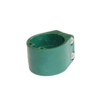 Plastiek midden/eindklem 48mm profielpaal RAL 6005 per 6 st