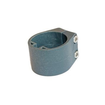 Plastiek midden/eindklem 48mm profielpaal RAL7016 per 6 st