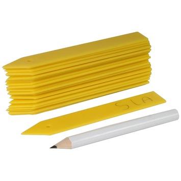 Étiquette pour plantes 10 cm avec crayon 25 pièces