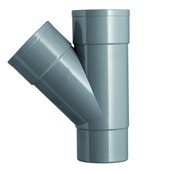 Pièce en T 45° Martens 80 mm gris