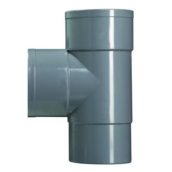 Martens t-stuk 90 graden verjongd 80mm grijs