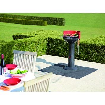 Tapis de protection pour barbecue 100x120 cm anthracite