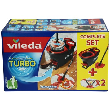 Easy Wring & Clean Turbo Vileda set complet + 2 recharges