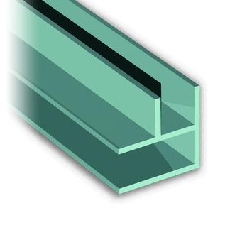 Hoekprofiel voor keukenachterwand aluminium 65 cm 90 graden