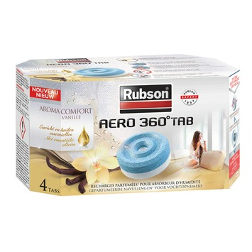 Recharges pour absorbeur d'humidité AERO 360° Rubson vanille tabs 4x 450 g