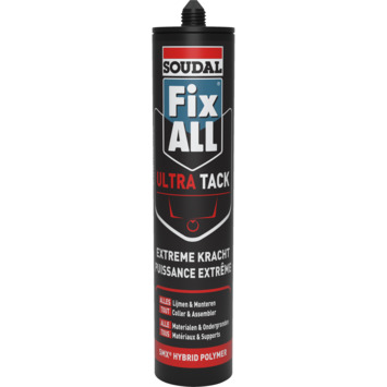 Soudal Fix All Ultra Tack zwart 290 ml