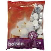 Bolsius zak met theelichtjes 6 uren wit 70 stuks