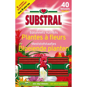 Substral staafjes bloeiende planten