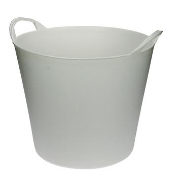 Seau flexible 20 L blanc