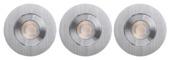 GAMMA inbouwspots met geïntegreerde LED 9,3 W 700 lumen richtbaar aluminium 3 stuks