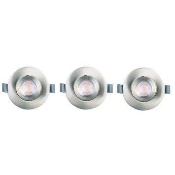 Spots encastrables GAMMA LED intégrées 9,3 W 700 lumens acier 3 pièces