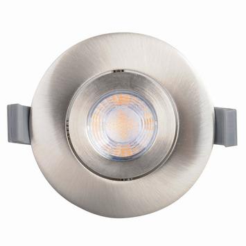 GAMMA inbouwspot met geïntegreerde LED 9,3 W 700 lumen rond richtbaar staal