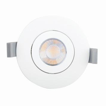 GAMMA inbouwspot met geïntegreerde LED 9,3 W 700 lumen rond richtbaar wit