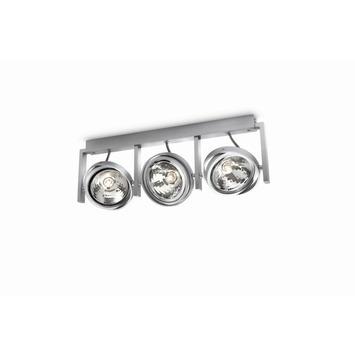 Support 3 spots Fast Philips écohalogène 3xG6 max. 60 W ampoules non fournies aluminium