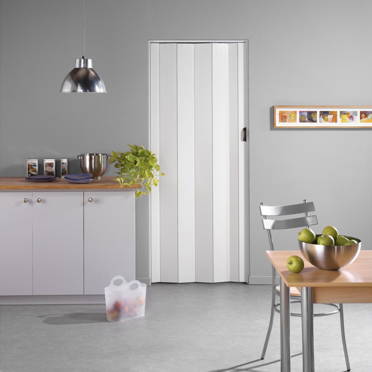 Porte accord on una grosfillex pvc 205x84 cm blanc - Porte accordeon grosfillex prix ...
