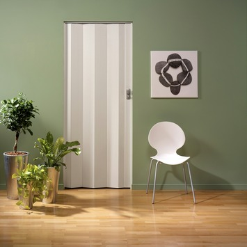 Porte accordéon Spacy Grosfillex PVC 205x84 cm blanc