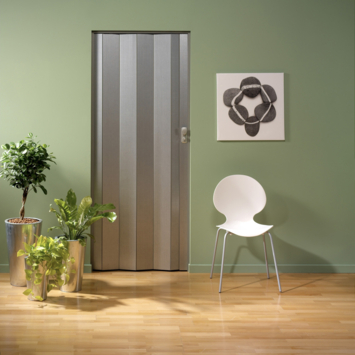 Porte accordéon Spacy Grosfillex PVC 205x84 cm aluminium