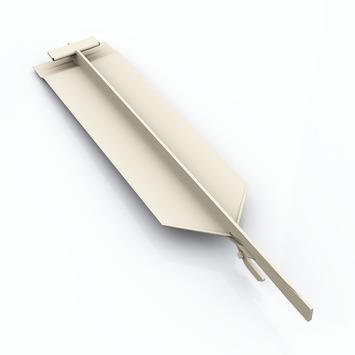 Pièce de jonction invisible Durasid RAL9010 16,7 cm 5 pièces