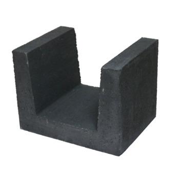 Profilé U en béton 30x40x30 cm noir palette