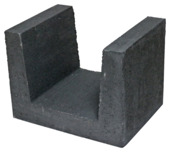 Profilé U en béton 30x40x30 cm noir pièce