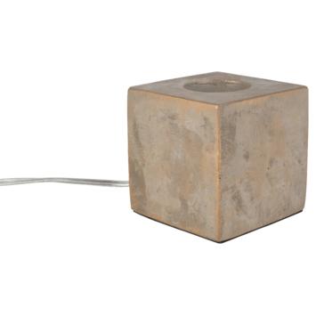 Socle pour lampe brun béton