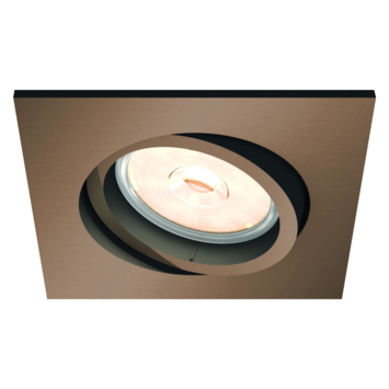 Philips Donegal inbouwspot excl. lampen GU10 vierkant richtbaar max. 5,5W koper