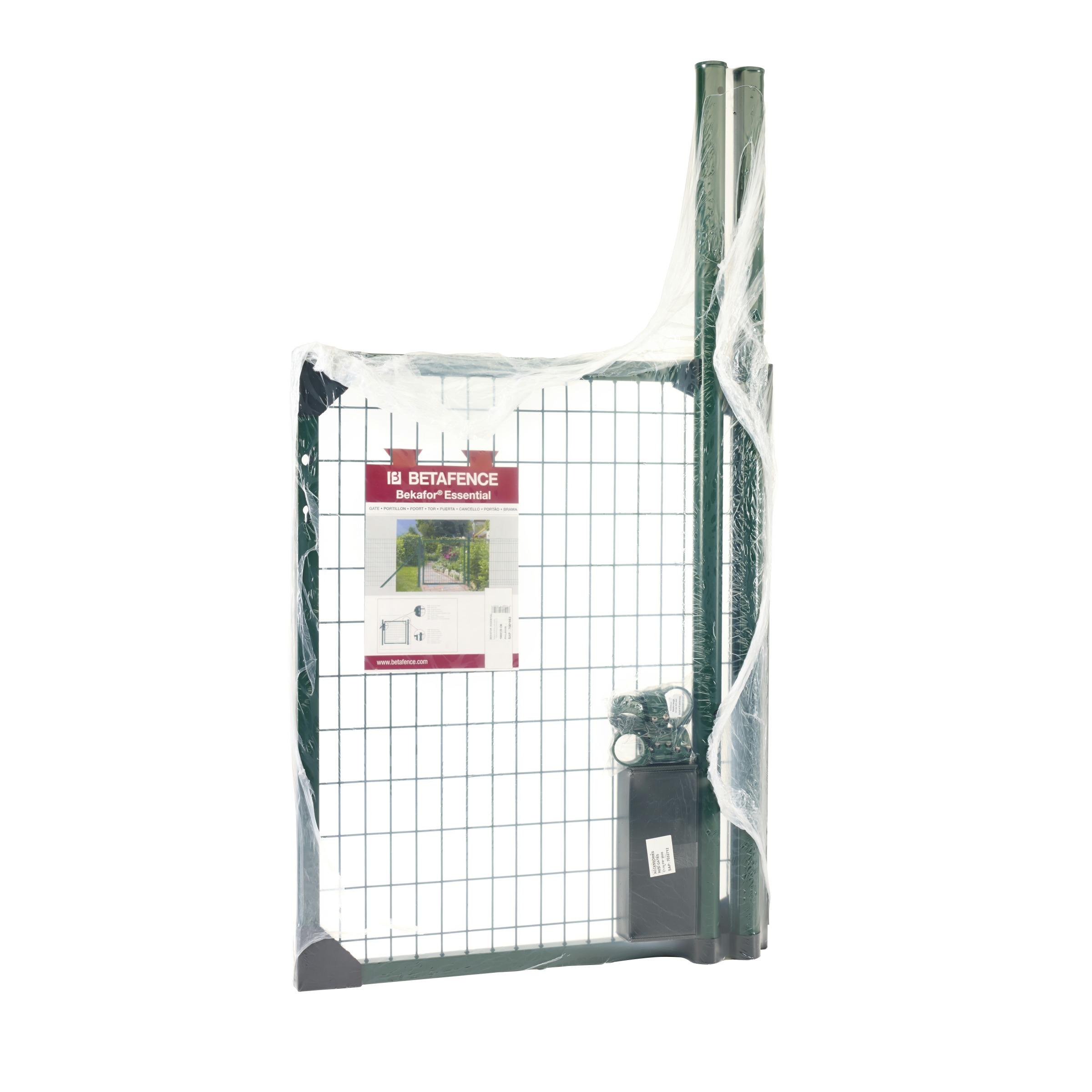 Portillon de jardin bekafor betafence 100x120 cm vert for Portillon de jardin metal vert