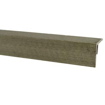 Profilé d'angle en bois composite 4x4x300 cm gris