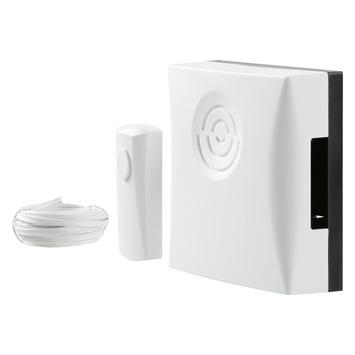 Doorman deurbel met drukknop en kabel wit