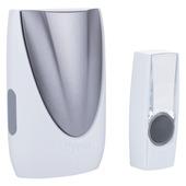 Sonnette plug-in avec bouton Byron portée 75 m blanc