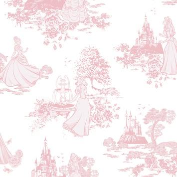 Papierbehang Prinsessen roze 70-233