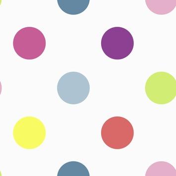 Vliesbehang Stippen multicolour 100103