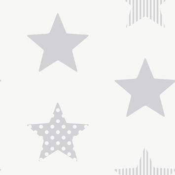 Vliesbehang Superster zilver 100111