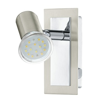 Spot Rotello Eglo avec ampoule LED 3 W 400 lumens nickel