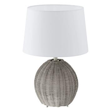 Lampe de table Roia Eglo brun/blanc