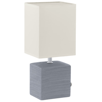Eglo Mataro tafellamp exclusief lamp E14 max. 40 W wit en grijs
