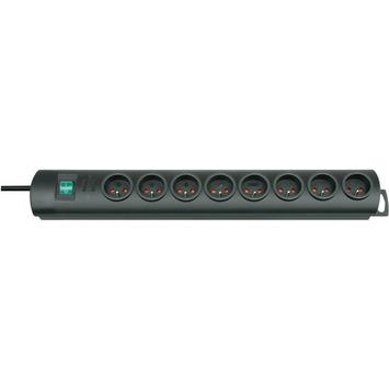 Brennenstuhl Primera-Line stekkerdoos 8-voudig met schakelaar 2 m zwart