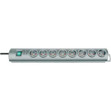 Brennenstuhl Primera-Line stekkerdoos 8-voudig met schakelaar 2 m zilver