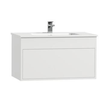 Meuble de salle de bains Tiger Helsinki 80cm blanc avec lavabo céramique