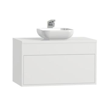 Meuble de salle de bains Tiger Helsinki 80cm blanc avec vasque à poser