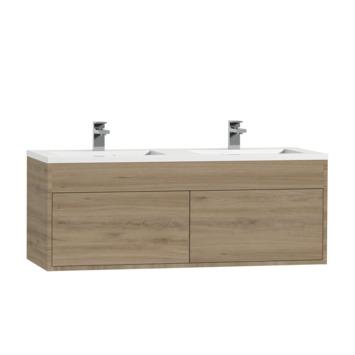 Meuble sous-lavabo Tiger Helsinki 120 chêne chalet avec lavabo polybéton