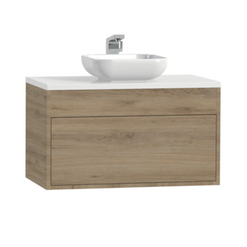 Meuble de salle de bains Tiger Helsinki chêne chalet 80 cmavec vasque à poser