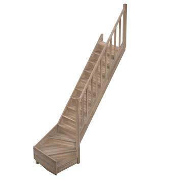 Sogem Tradi Eco trap eiken met kwartslag rechts 280x80 cm