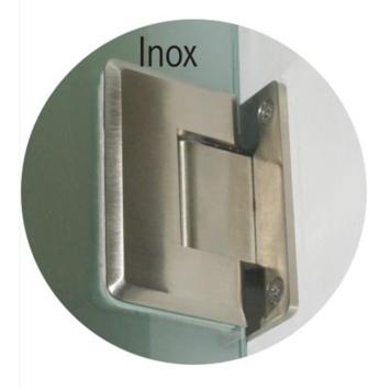 Charnière de porte Vetro inox